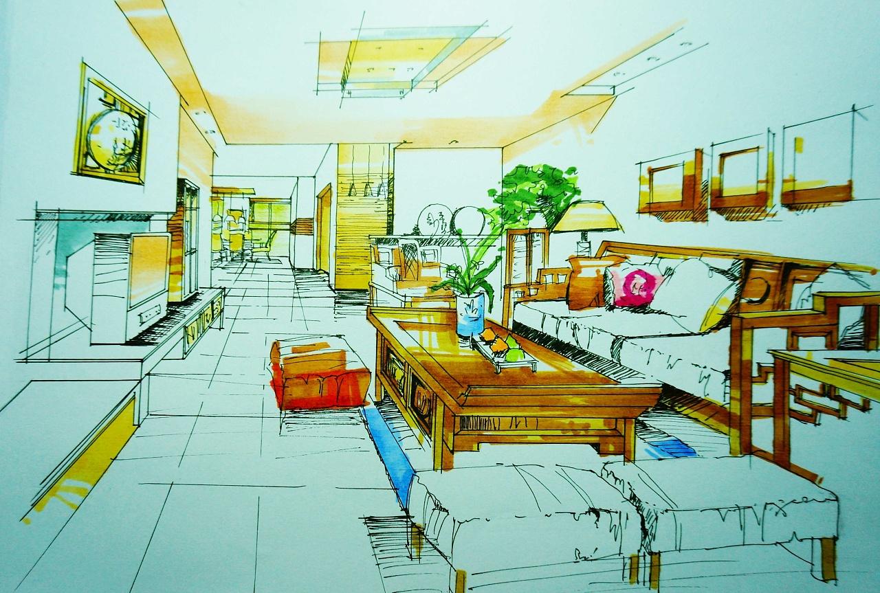 室内马克笔表现技法|空间|室内设计|silvermoon music