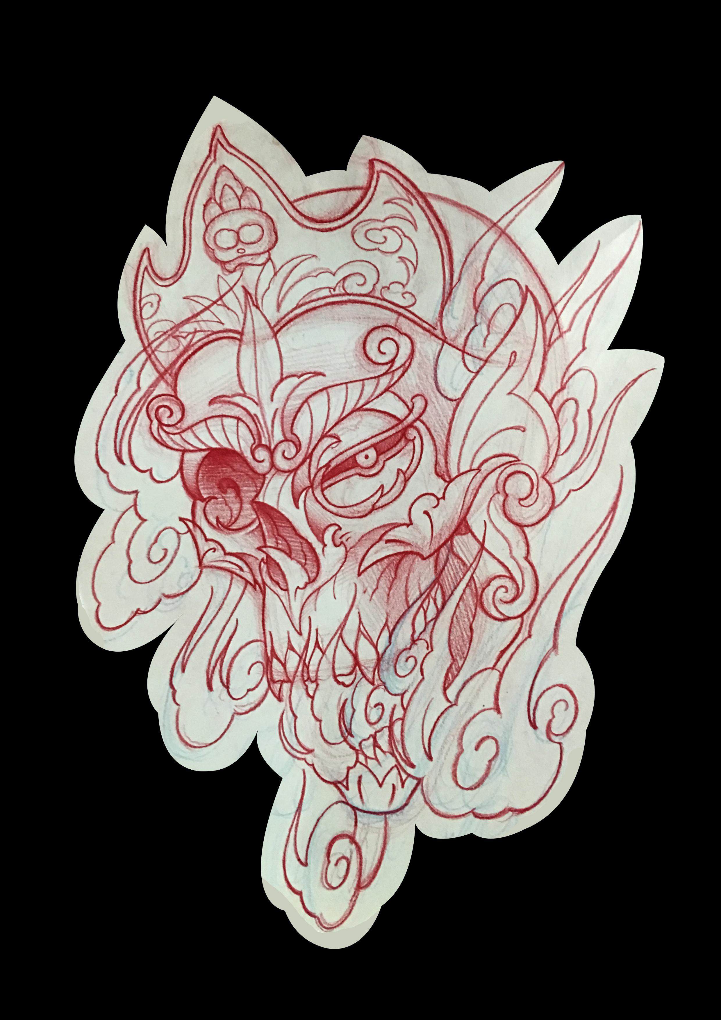 纹身原创手稿