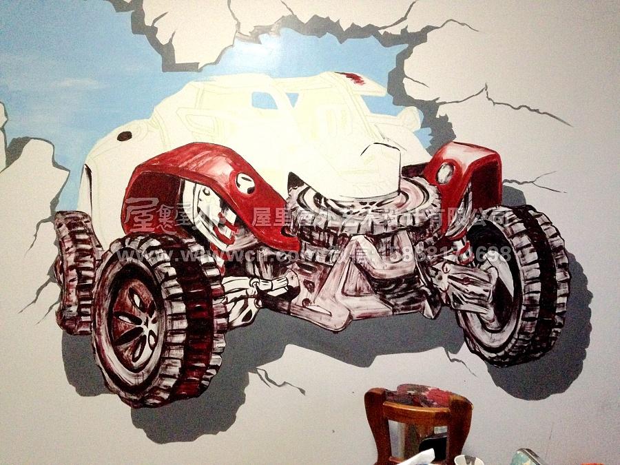 杭州金明酒店(墙绘涂鸦)|涂鸦\/潮流|插画|屋里屋