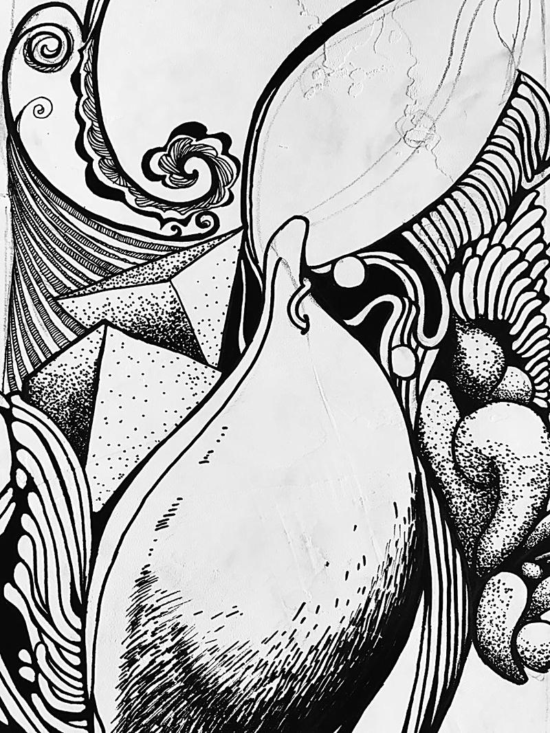 黑白手绘涂鸦/第一期l