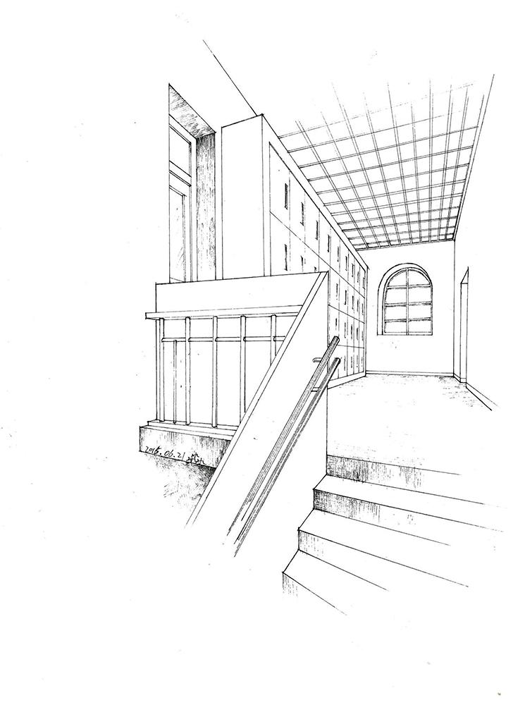 幼儿园设计的手绘图(线稿)|室内设计|空间/建筑|三 (728x1000)-桥图片