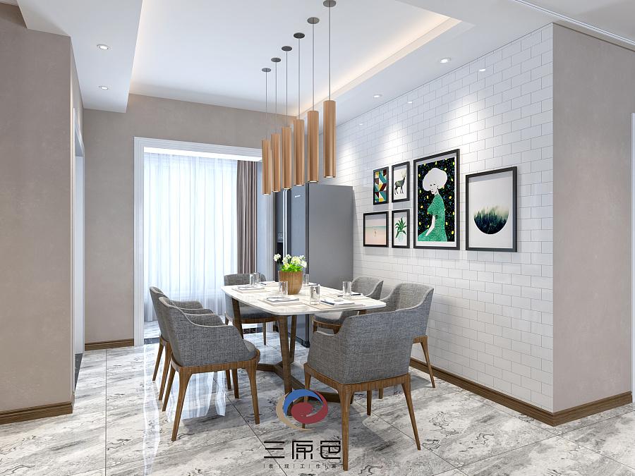 现代客餐厅表现|室内设计|空间|yi念间 - 原创设计
