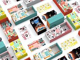 ioff品牌 2020插画袜子礼盒