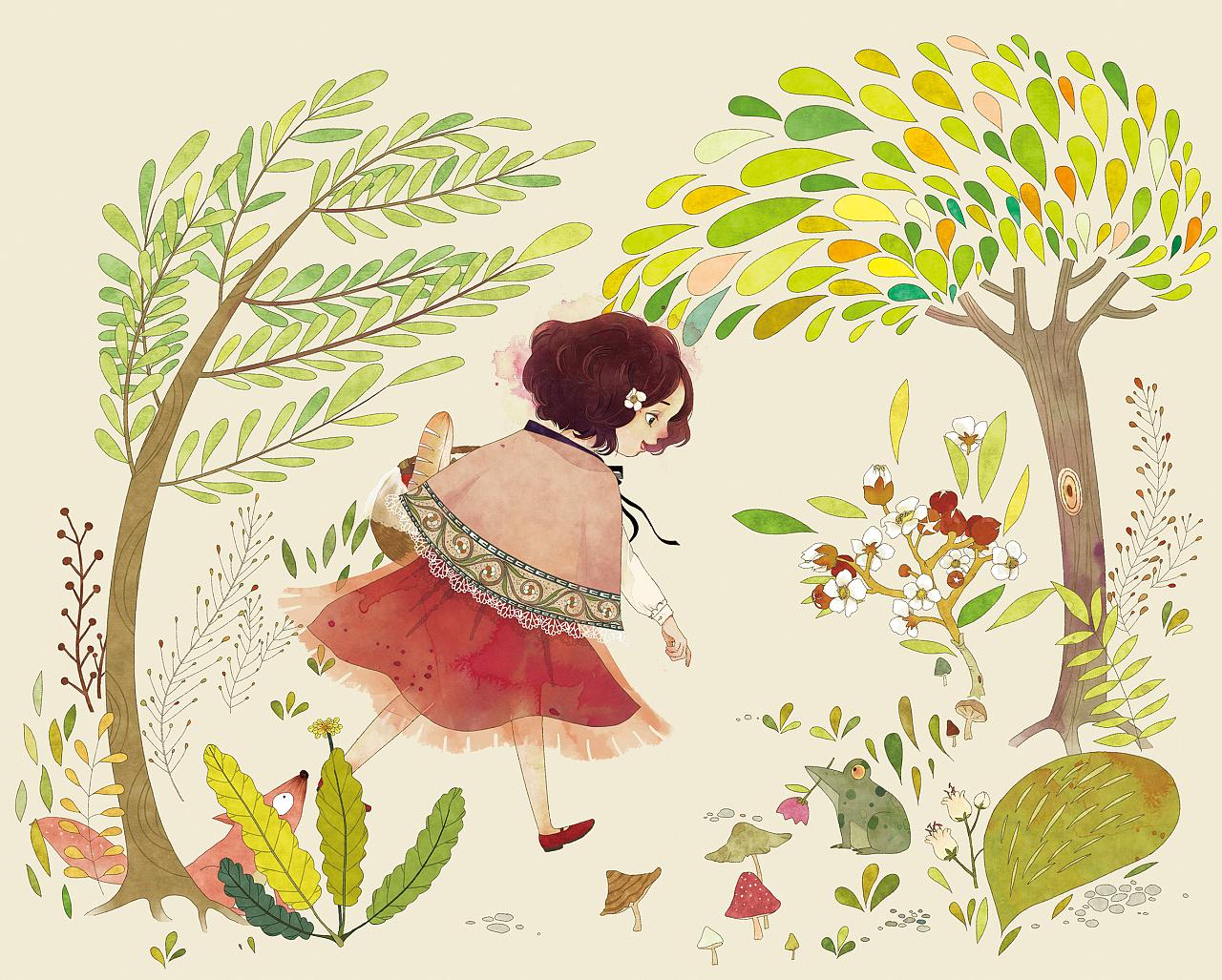 小路 br>那森林里的小动物 br>会不会都已睡熟 br>绿盈盈的草坡上 br>