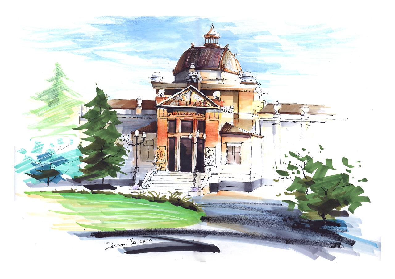 手绘上色|空间|建筑设计|romanti - 原创作品 - 站酷