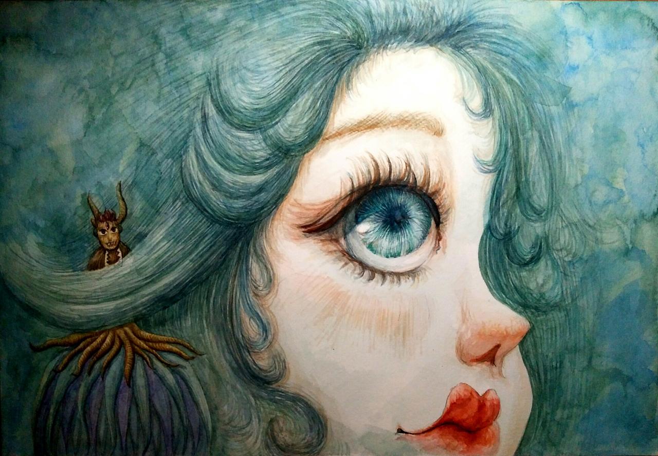 丸子水彩手绘2