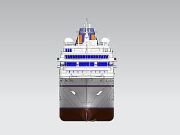 豪华游轮3维模型