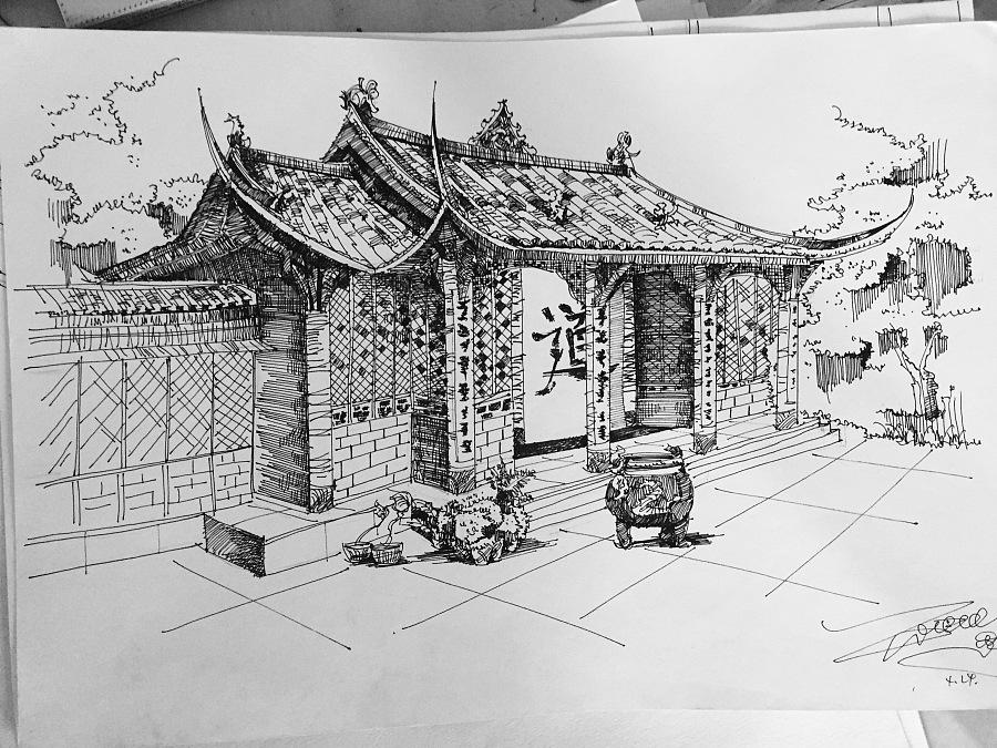 建筑手绘|建筑设计|空间|carenard - 原创设计作品图片