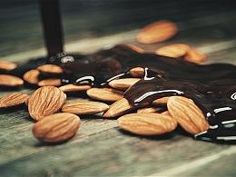 坚果与巧克力的制作-食品包装类广告