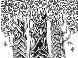 钢笔画[发财树]