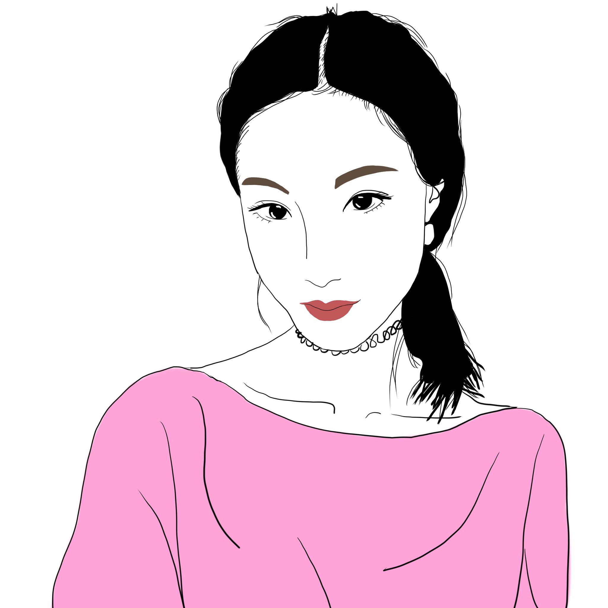 手绘头像|插画|插画习作|emily瑶 - 原创作品 - 站酷