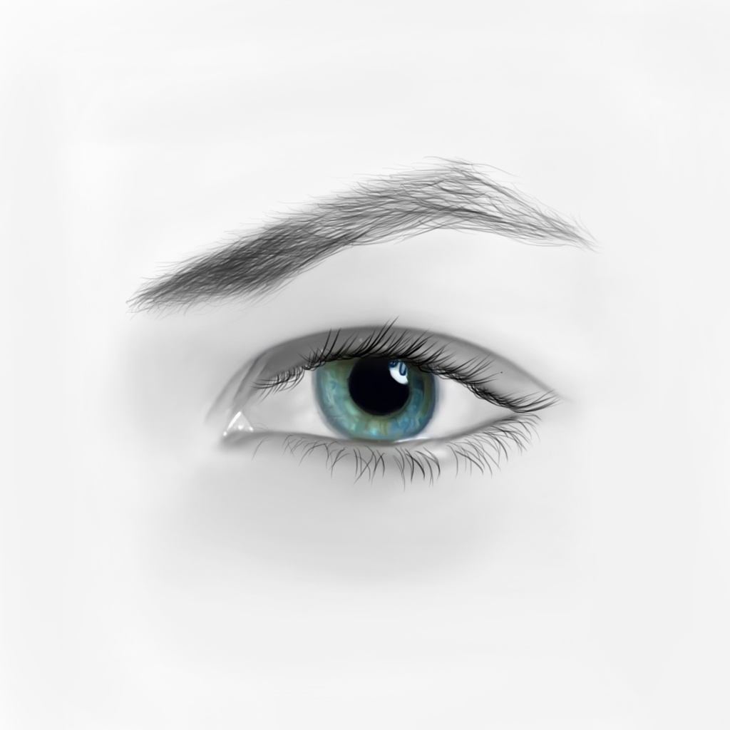 手绘真实眼睛