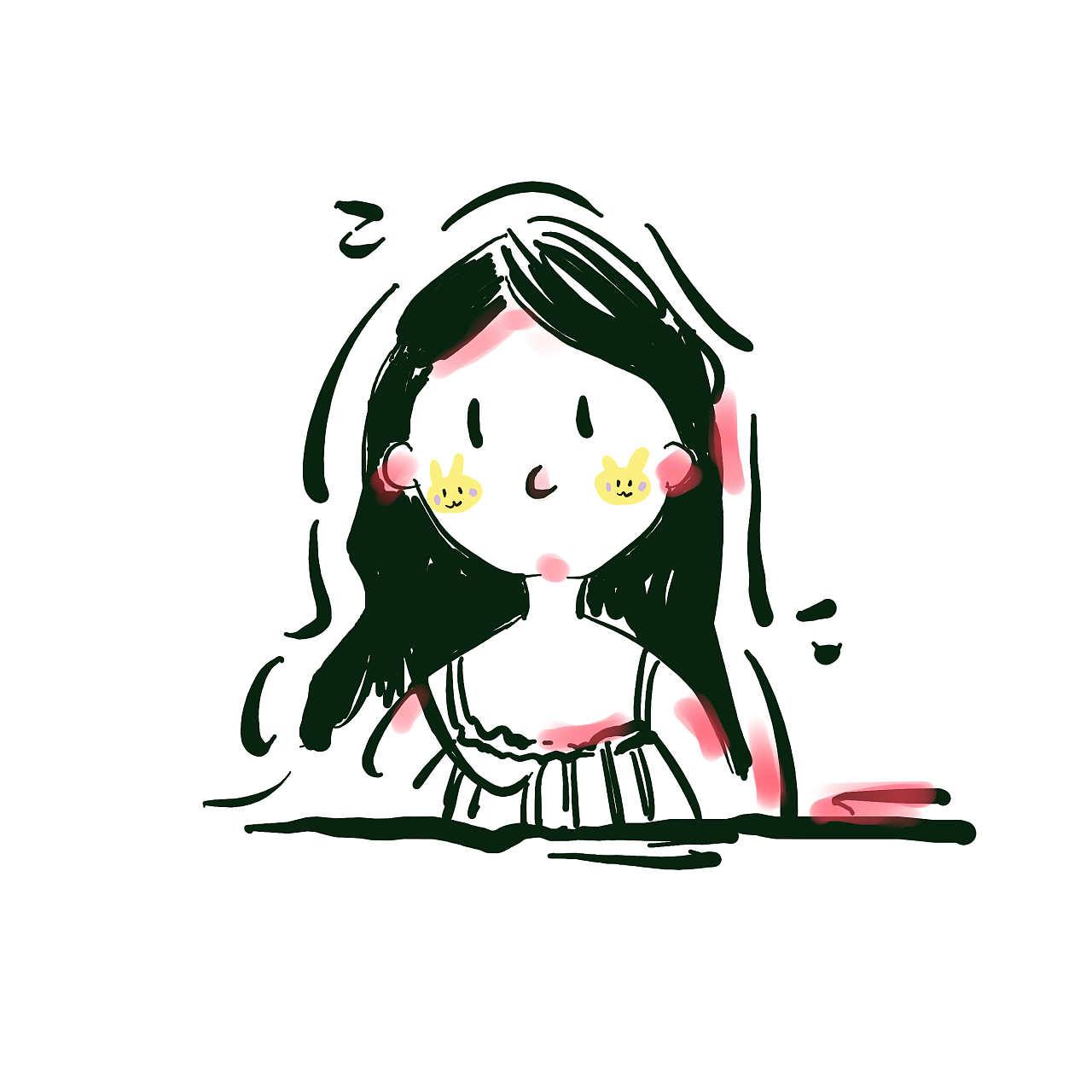 手绘头像 动漫 肖像漫画 小香港石原里美 - 原创作品