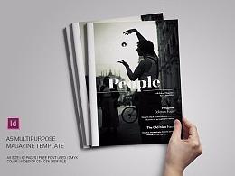 42商务杂志风格多用途画册模板