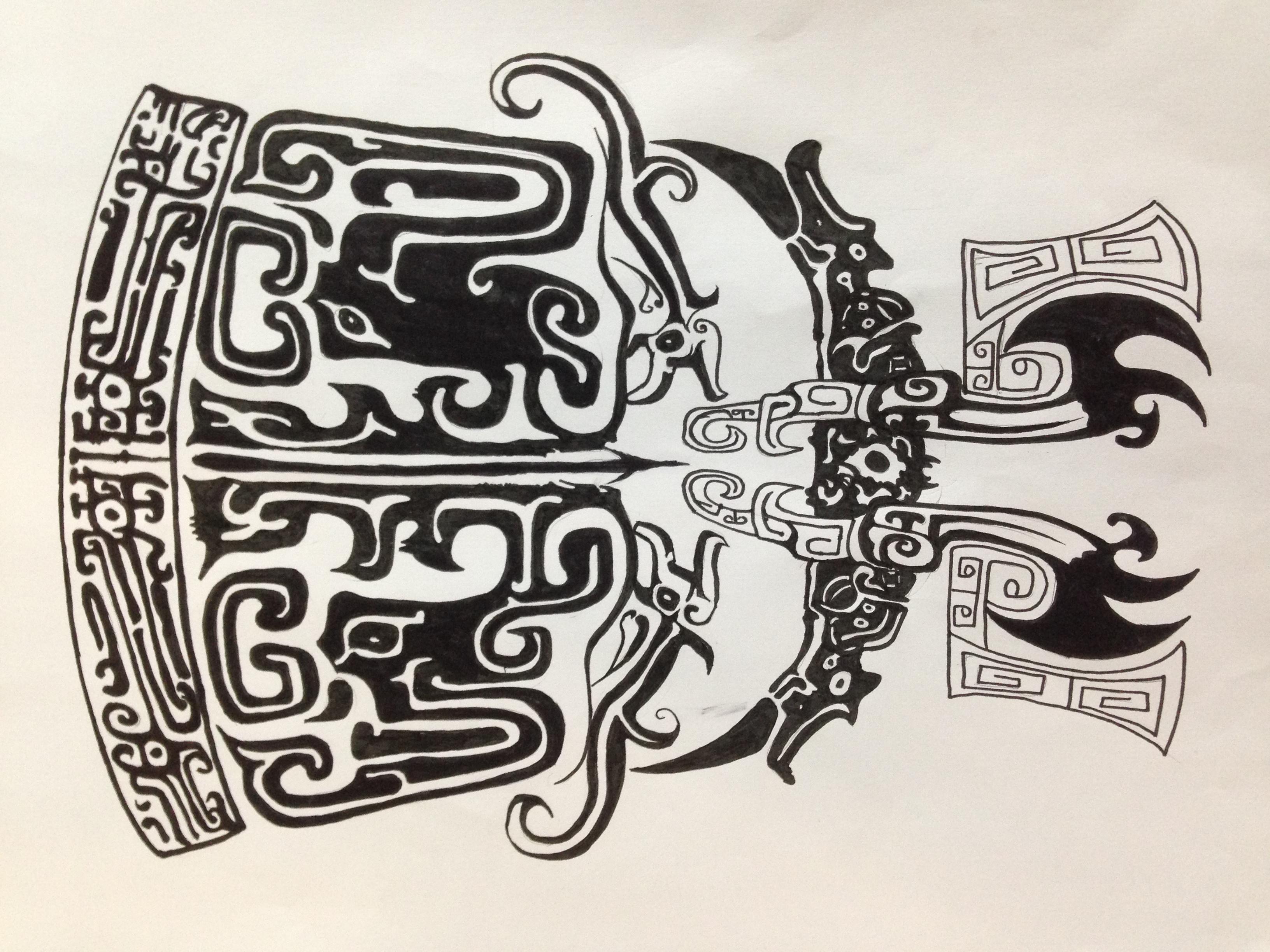 【夔龙】古风夔龙图腾纹身稿