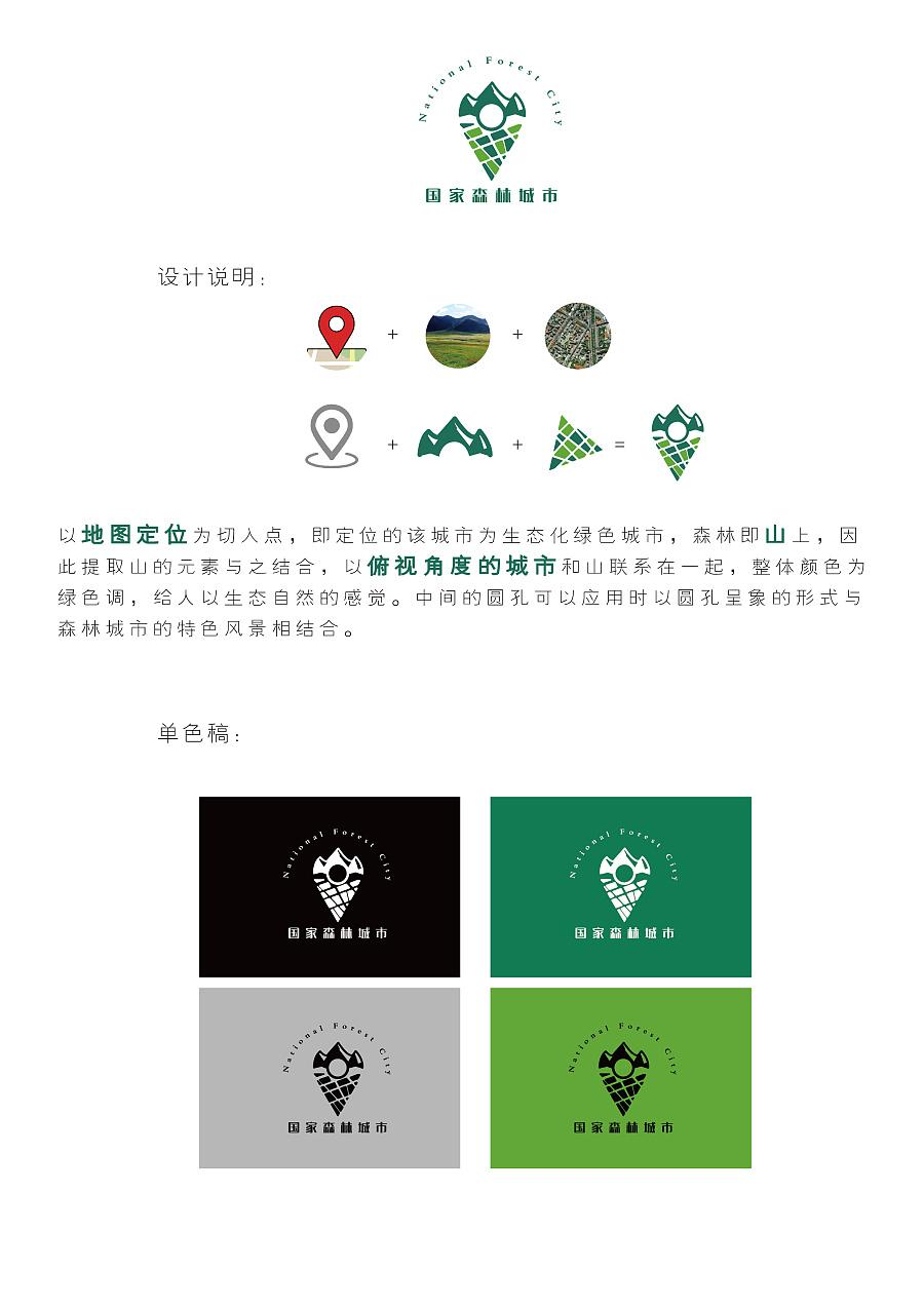 logo设计-国家森林城市图片
