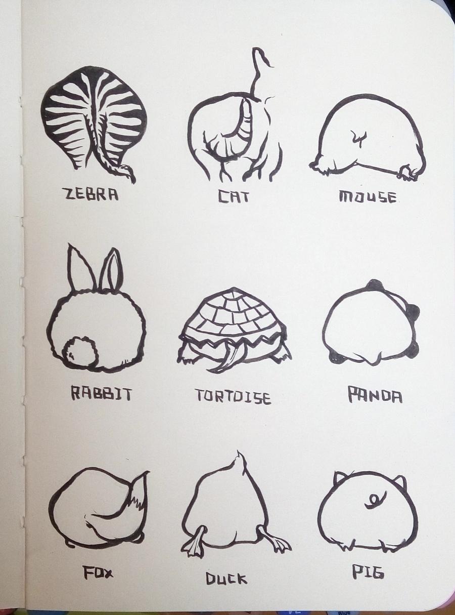 小动物们的一些|插画习作|插画|饿鱼 - 原创设计作品