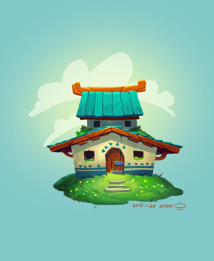 小房子|绘画习作|插画|西蒙simon