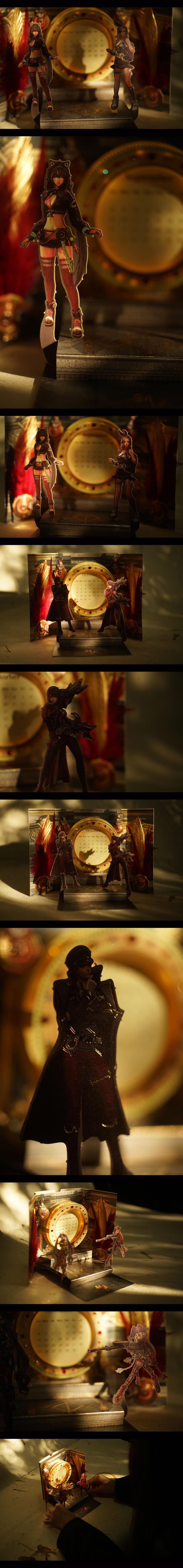 查看《腾讯剑灵游戏2018立体情境日历 — 福禄寿禧来》原图,原图尺寸:900x7699