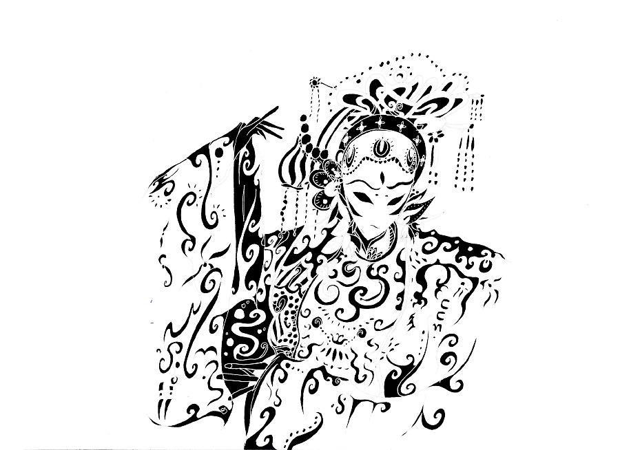 黑白画|其他绘画|插画|ccmj图片