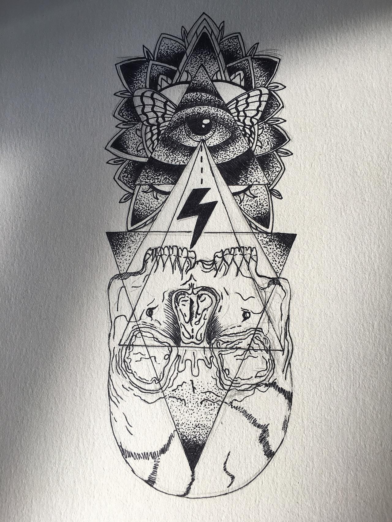 纹身手绘|插画|涂鸦/潮流|木八梓 - 原创作品 - 站酷