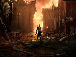 《中土世界战争之影》海报设计