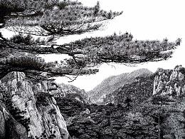 JF手绘钢笔画风景作品