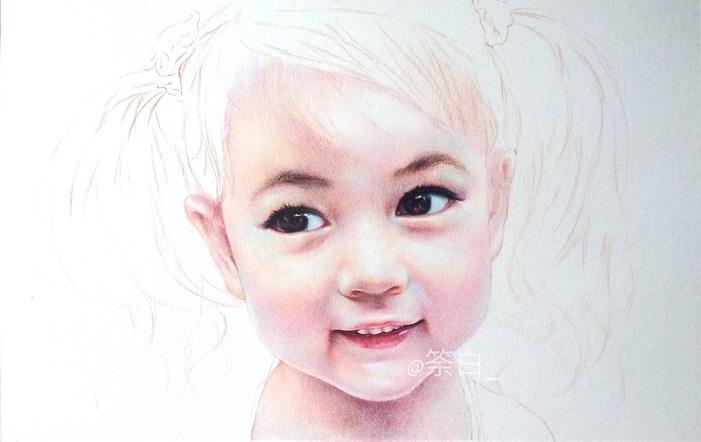 彩铅手绘|彩铅|纯艺术|二白