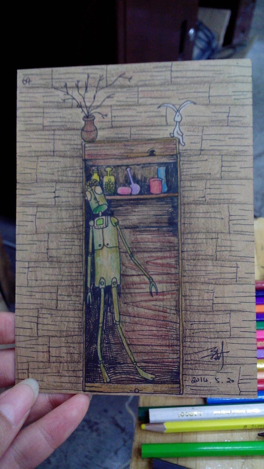 原创作品:手绘明信片