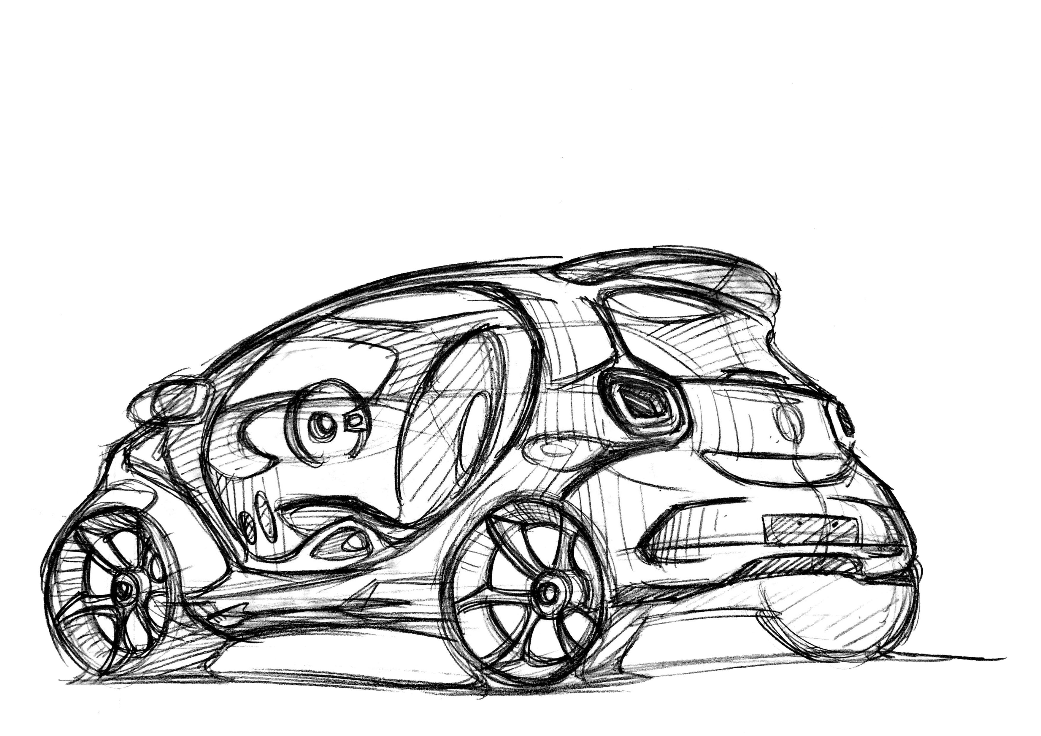 汽车手绘作品