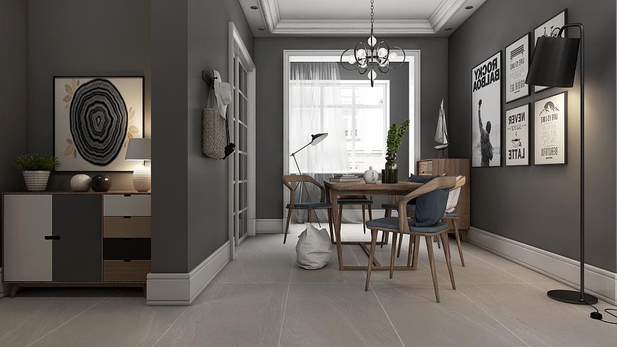 北欧风格客前景行业一组|室内设计|空间|化作千目前家具设计作品的餐厅图片