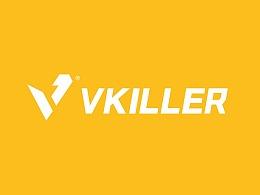 VKiller健身房VI设计,高端品牌连锁
