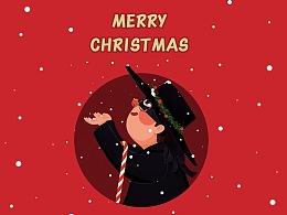 给公司老师们的圣诞形象and贺卡