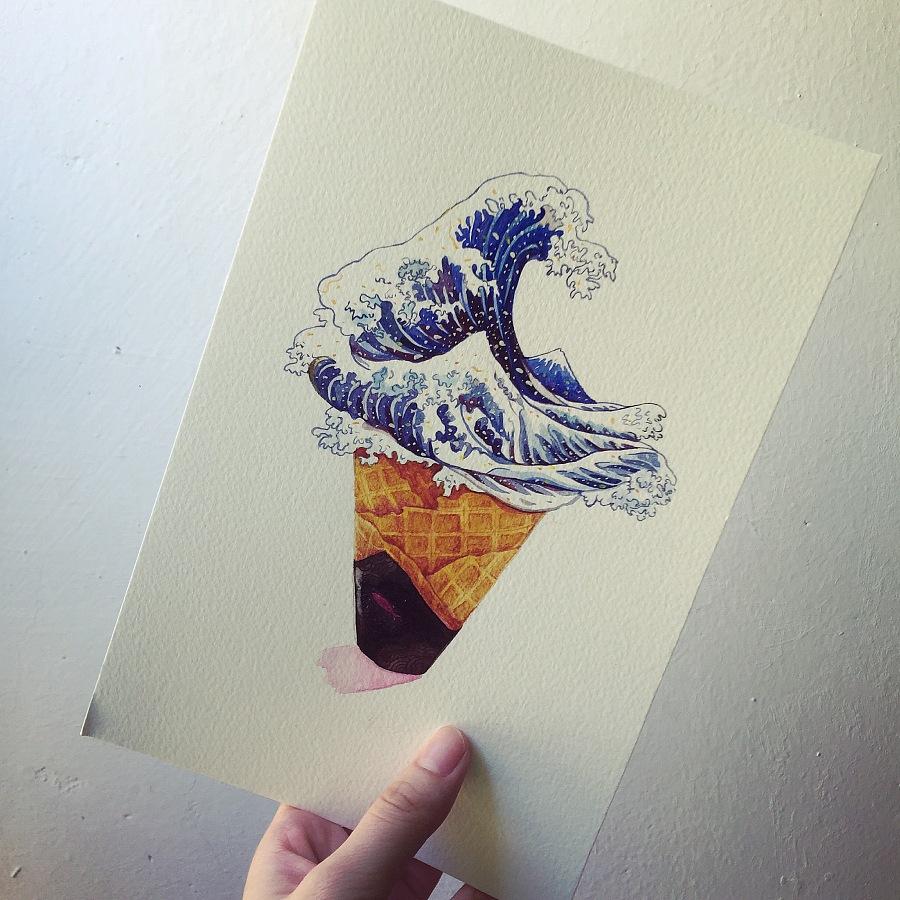 海浪冰淇淋