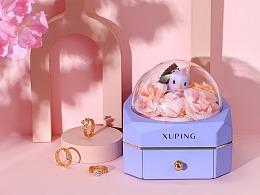 包装盒 礼盒 首饰盒 戒指  首饰海报  首饰摄影场景