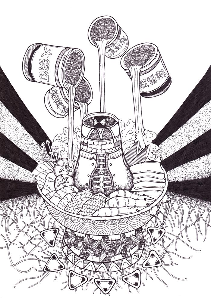 车世钦黑白手绘稿合集|其他绘画|插画|极限疯子车世钦