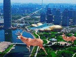 郑州CBD 郑州大玉米 郑州千禧塔—合成测试