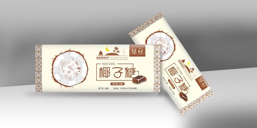 椰子糖包装设计|包装|平面|姚福财-应该景观设计作品集原创怎么做图片