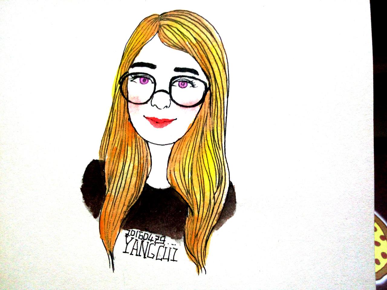 人物手绘|动漫|肖像漫画|杨翠 - 原创作品 - 站酷