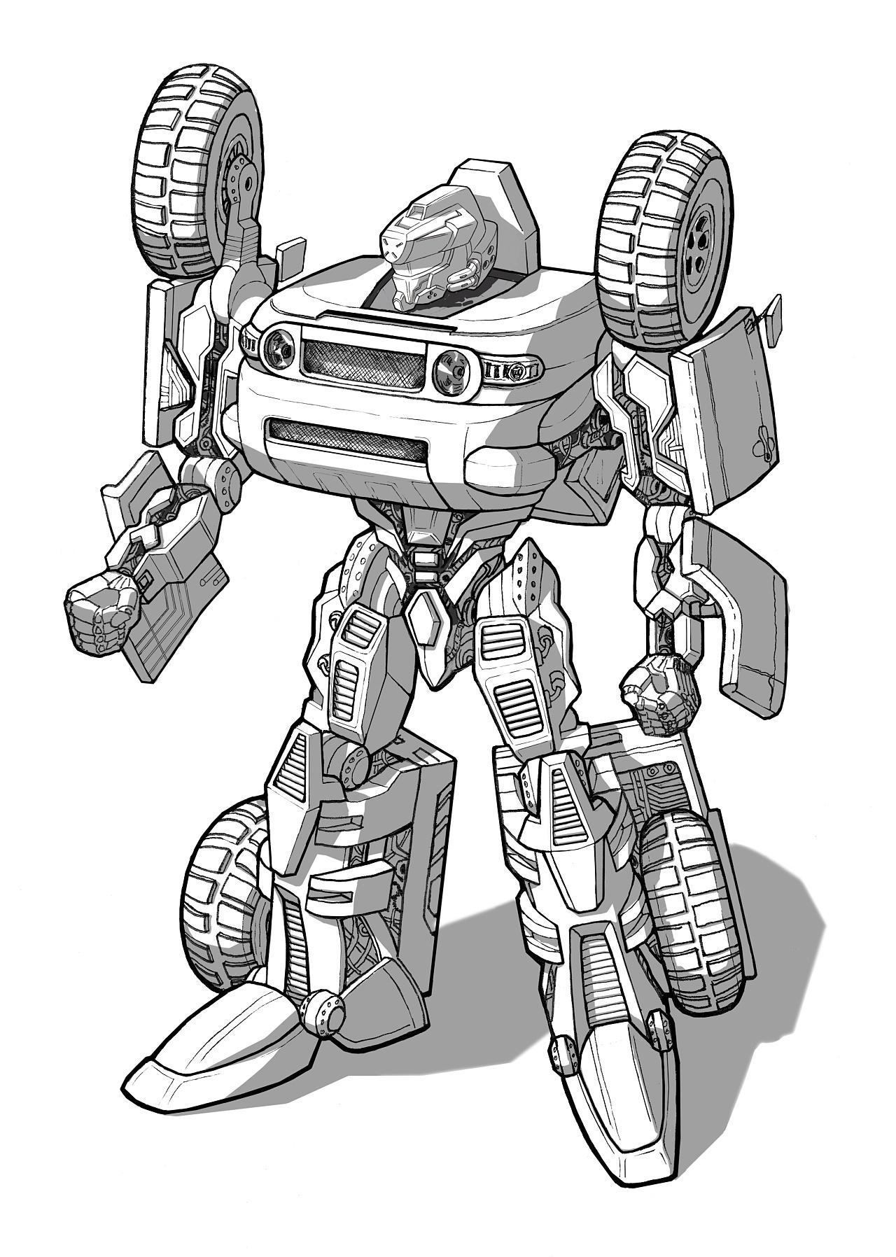 汽车变形机器人 丰田酷路泽