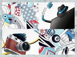 国美电器系列潮流主题插画2012(作品回顾)