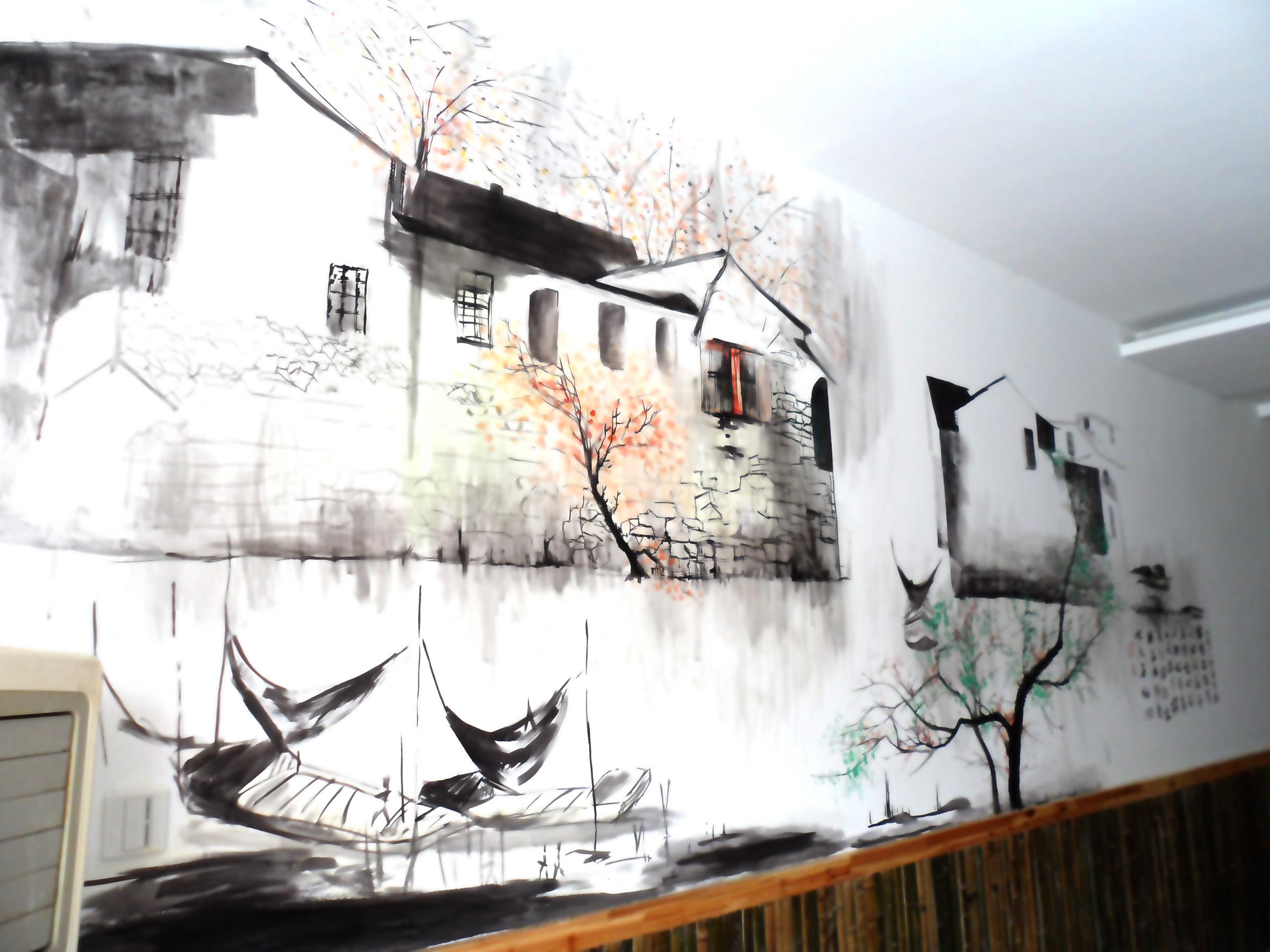 继续墙体手绘