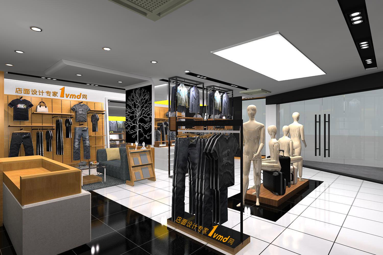 百斯盾男装店面专卖店设计效果图图片