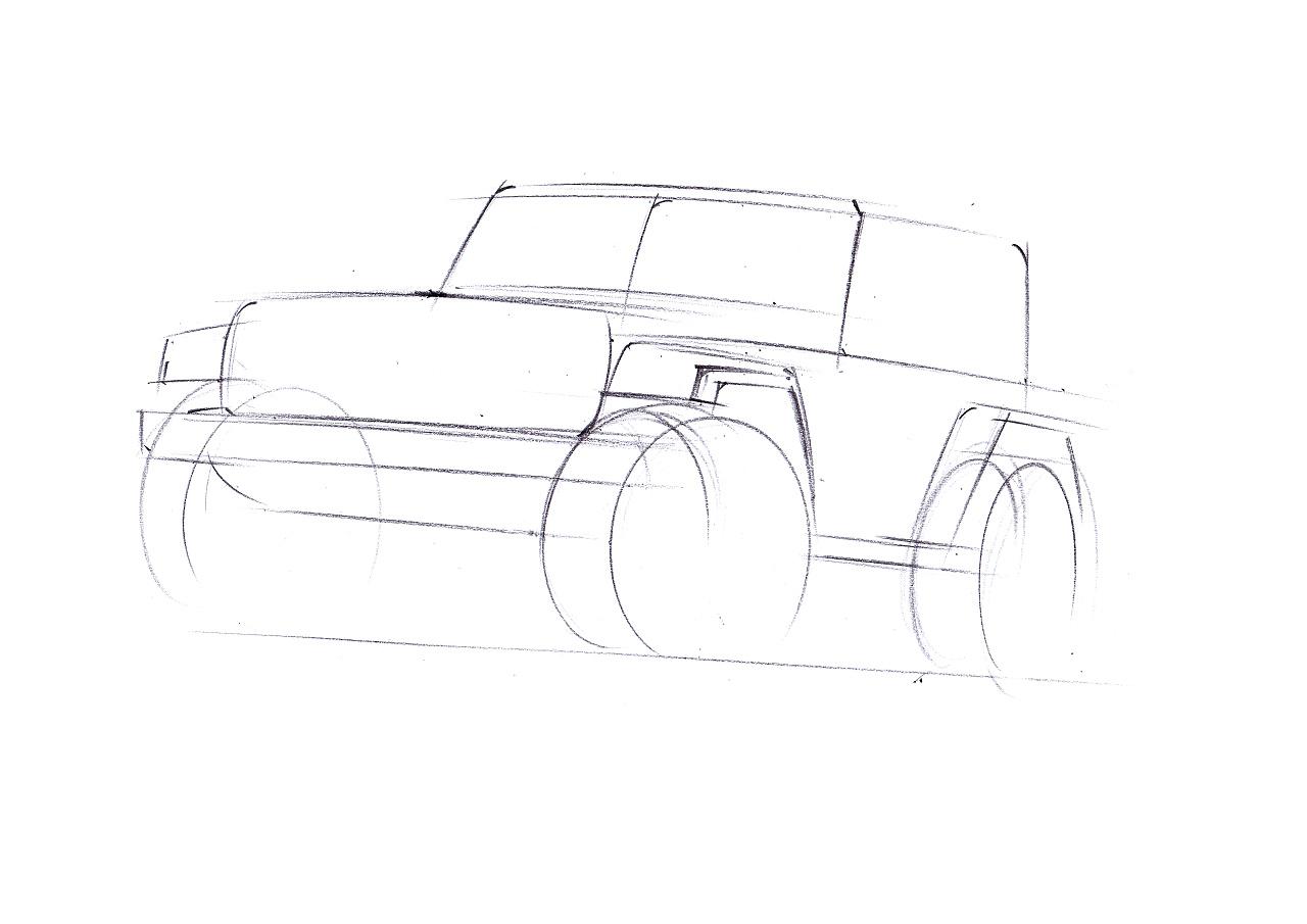 工业产品设计手绘之吉普车步鄹图~~马赛(mars)作品【mz产品手绘】
