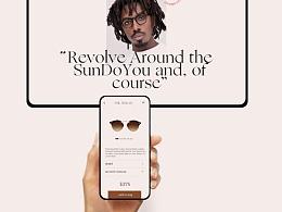 web design of glasses