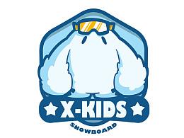 儿童滑雪学校logo