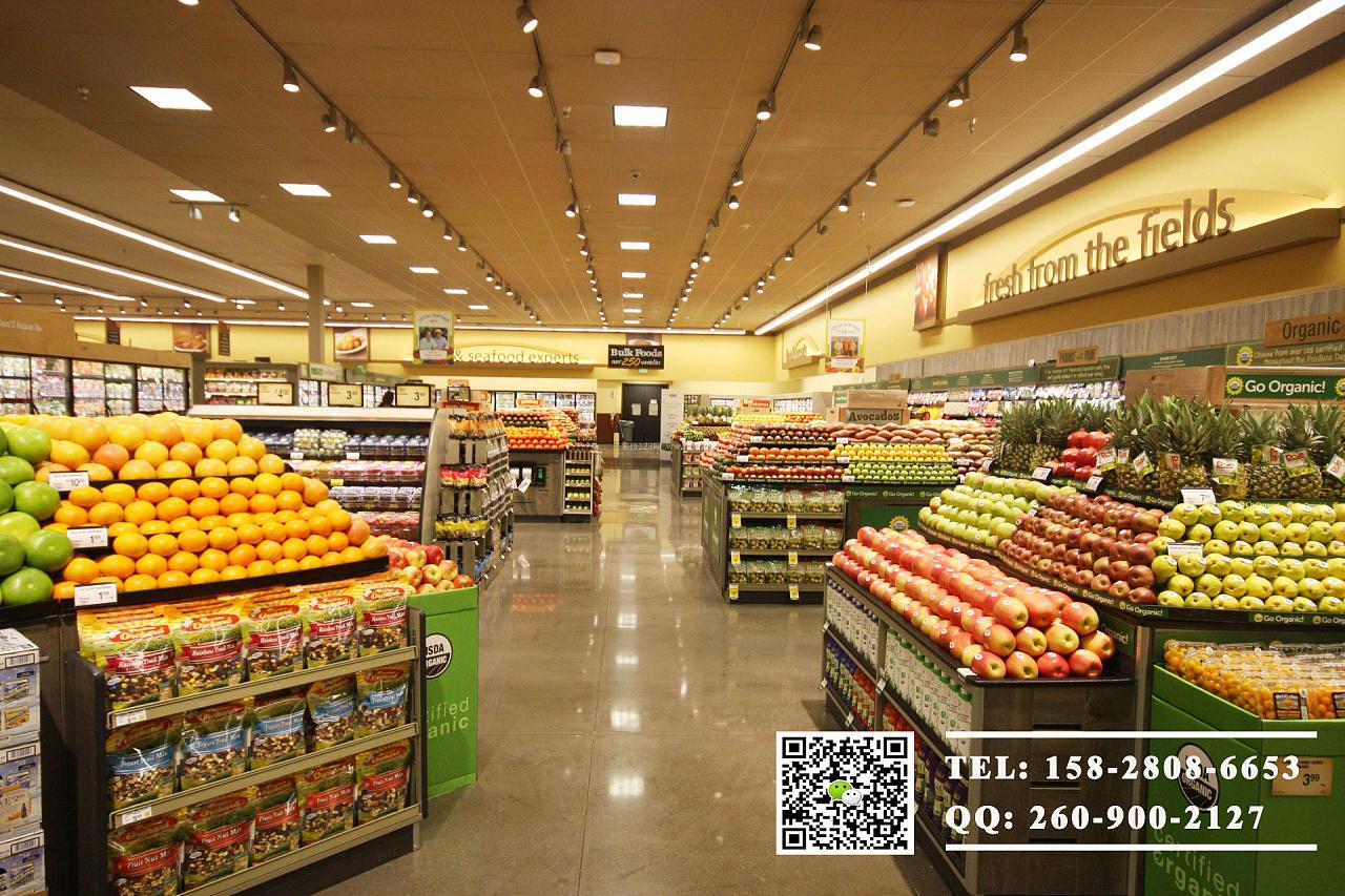 成都精品超市设计效果 生鲜超市设计 精品超市装修设计图片