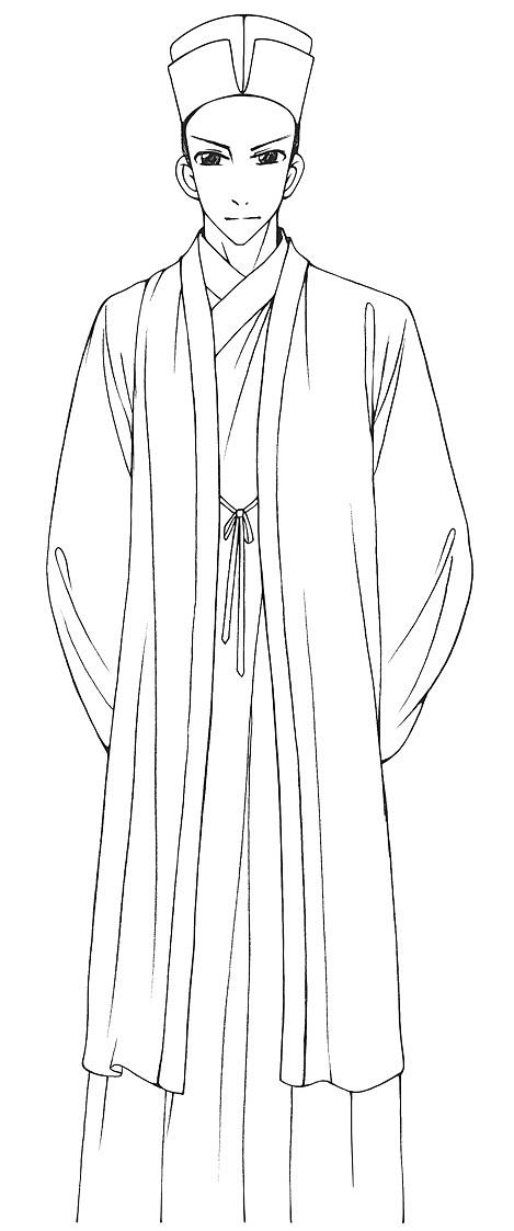人物铅笔线稿——唐,宋,清,民国各时期服饰表现(18p)