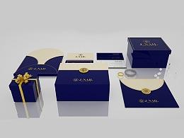 一套用C4D完成的珠宝品牌及包装设计