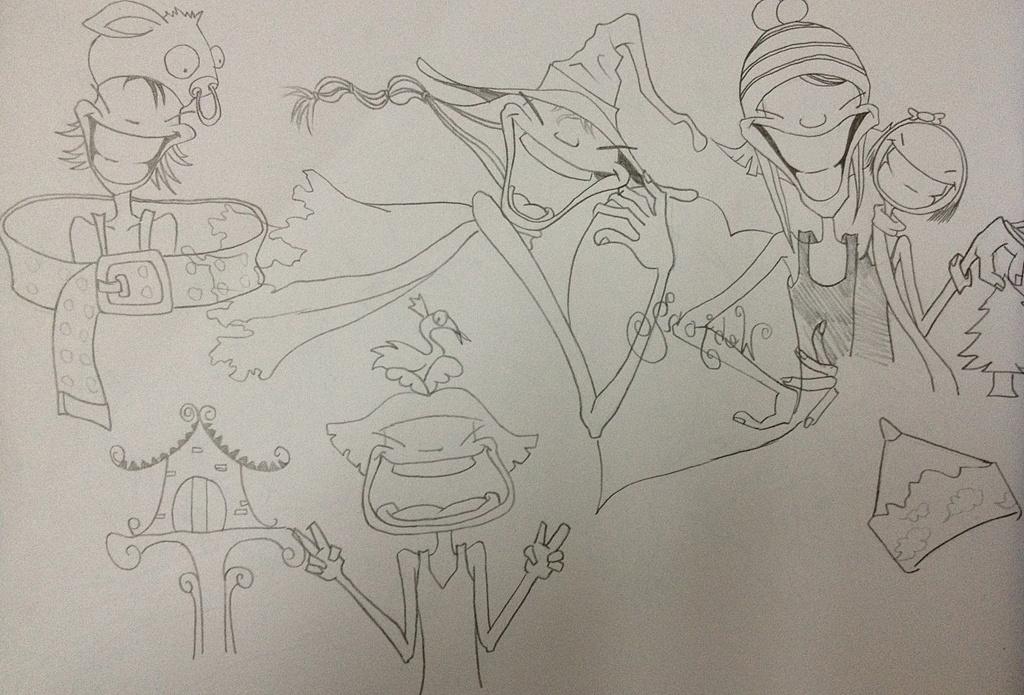 手绘卡通线稿|动漫|动画片|凌薇_薇 - 原创作品